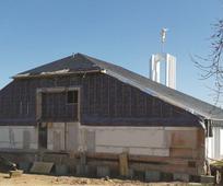 Die Baustelle am Tempel in Freiberg