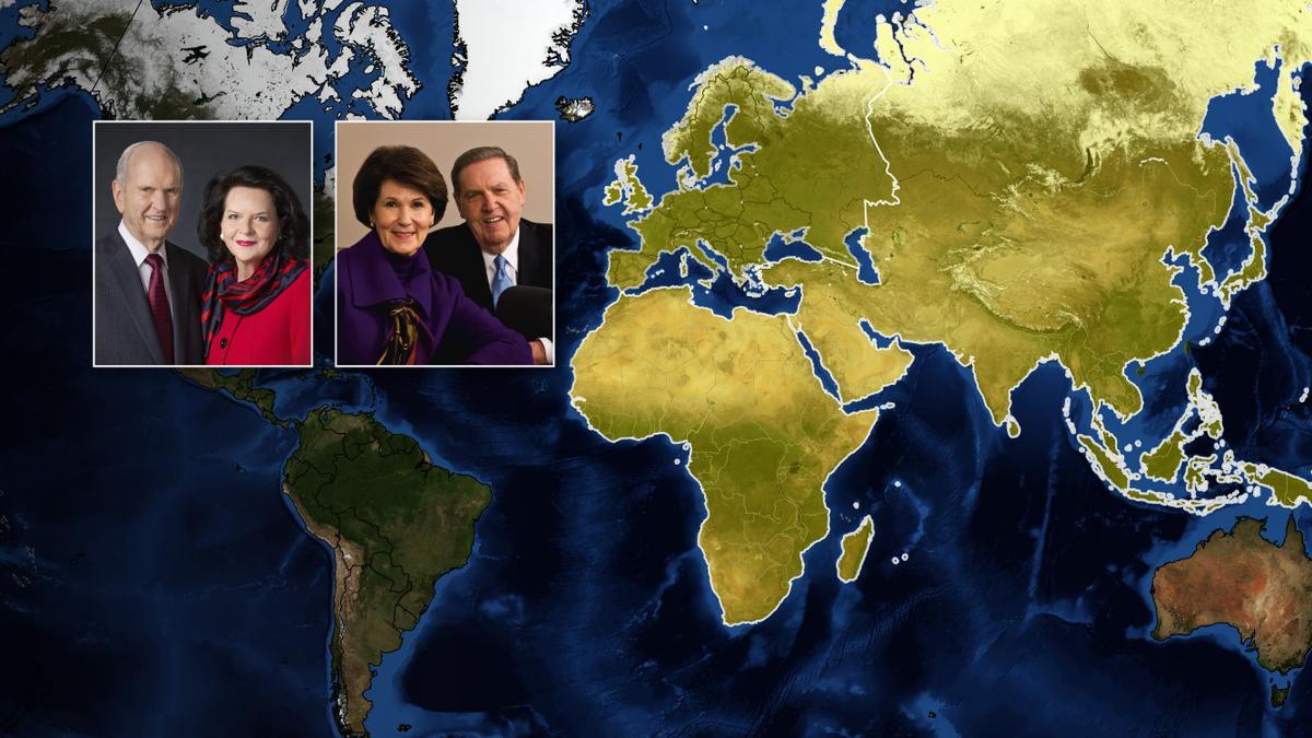 Ο Πρόεδρος Νέλσον σε περιοδεία στην Ευρώπη, στην Αφρική και την Ασία τον Απρίλιο