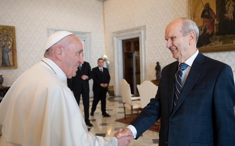 Ο Πρόεδρος Νέλσον με τον Πάπα Φραγκίσκο