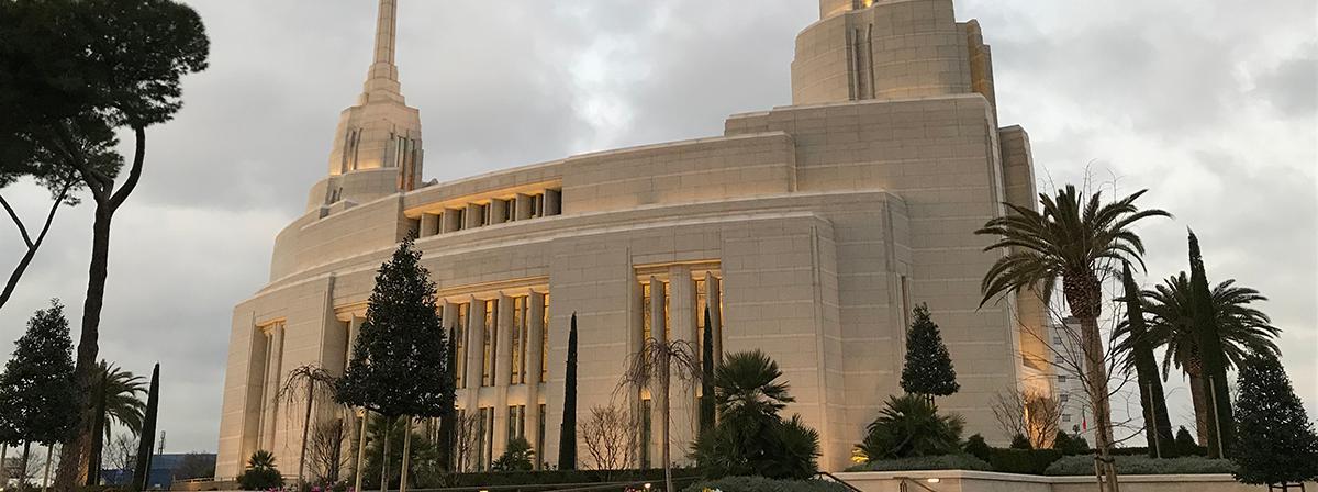 Vom 28. Jänner bis 16. Februar 2019 kann der neu errichtete Tempel in Rom von der Öffentlichkeit besichtigt werden