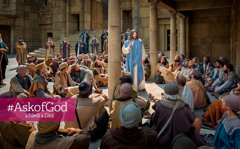 Gesù cristo insegna alla gente