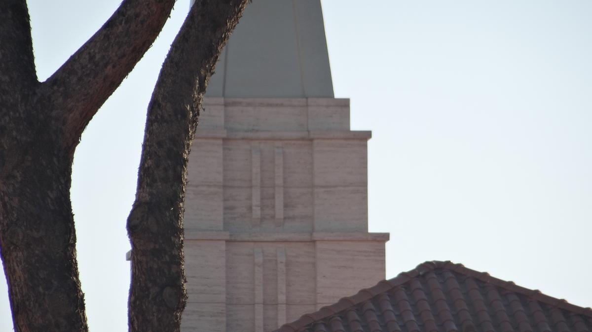 Particolare della guglia della cappella del centro di palo del complesso del Tempio di Roma.