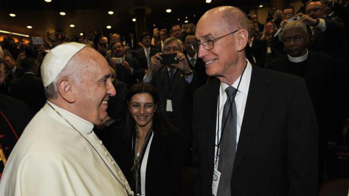 Il presidente Eyring, della Prima Presidenza, parla in Vaticano