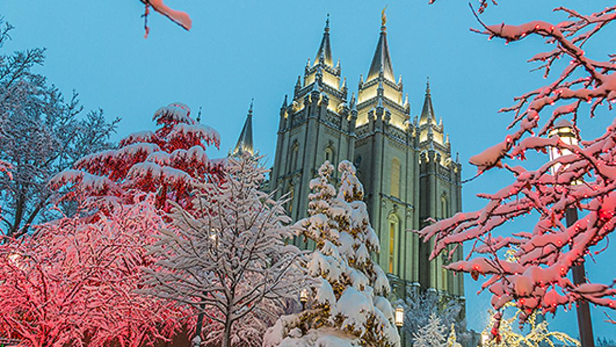 Temple Square in December