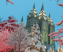 Temple Square in December.
