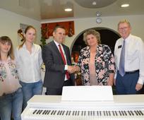 Church presents piano gift