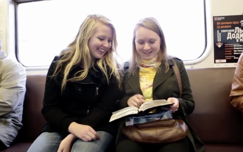 Share a book  of Mormon with friends