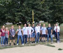 First of 3 Volleyball Service project Photo