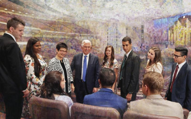 Uchtdorf youth conference center painting