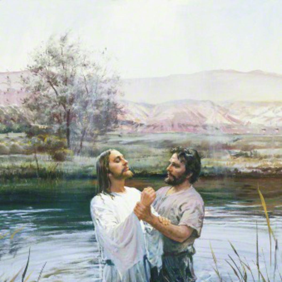 João batiza Jesus Cristo