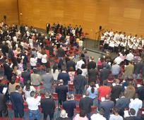Participantes da Conferência de Estaca de Lisboa