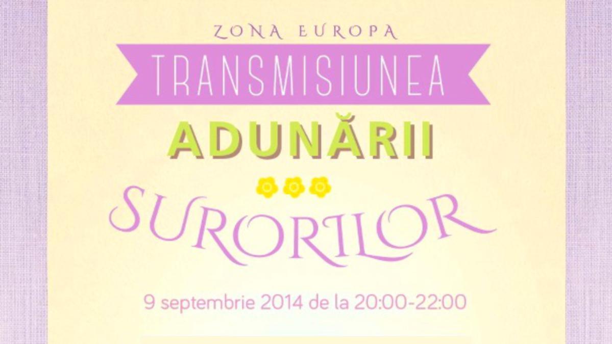 Transmisiunea adunării surorilor