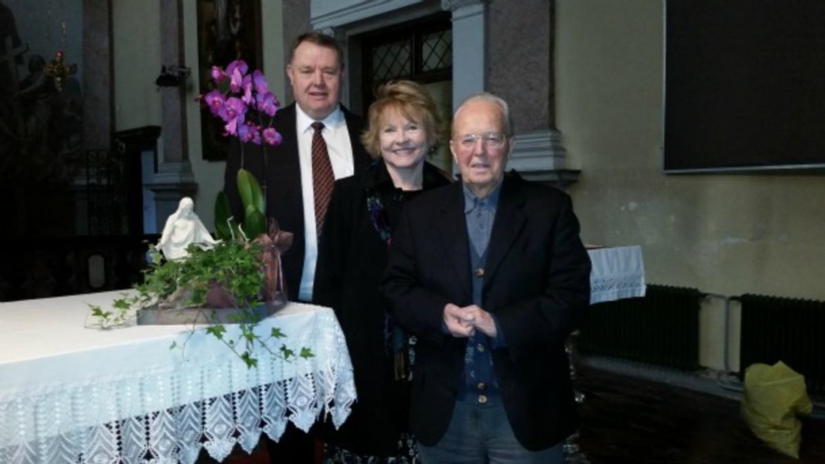 Predsednik Grant in njegova družina so obiskali duhovnika župnije sv. Jakoba