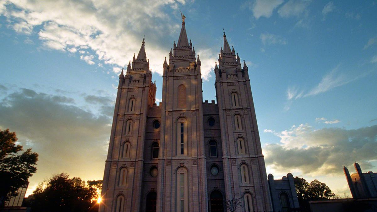 Atardecer en el Templo de Salt Lake City