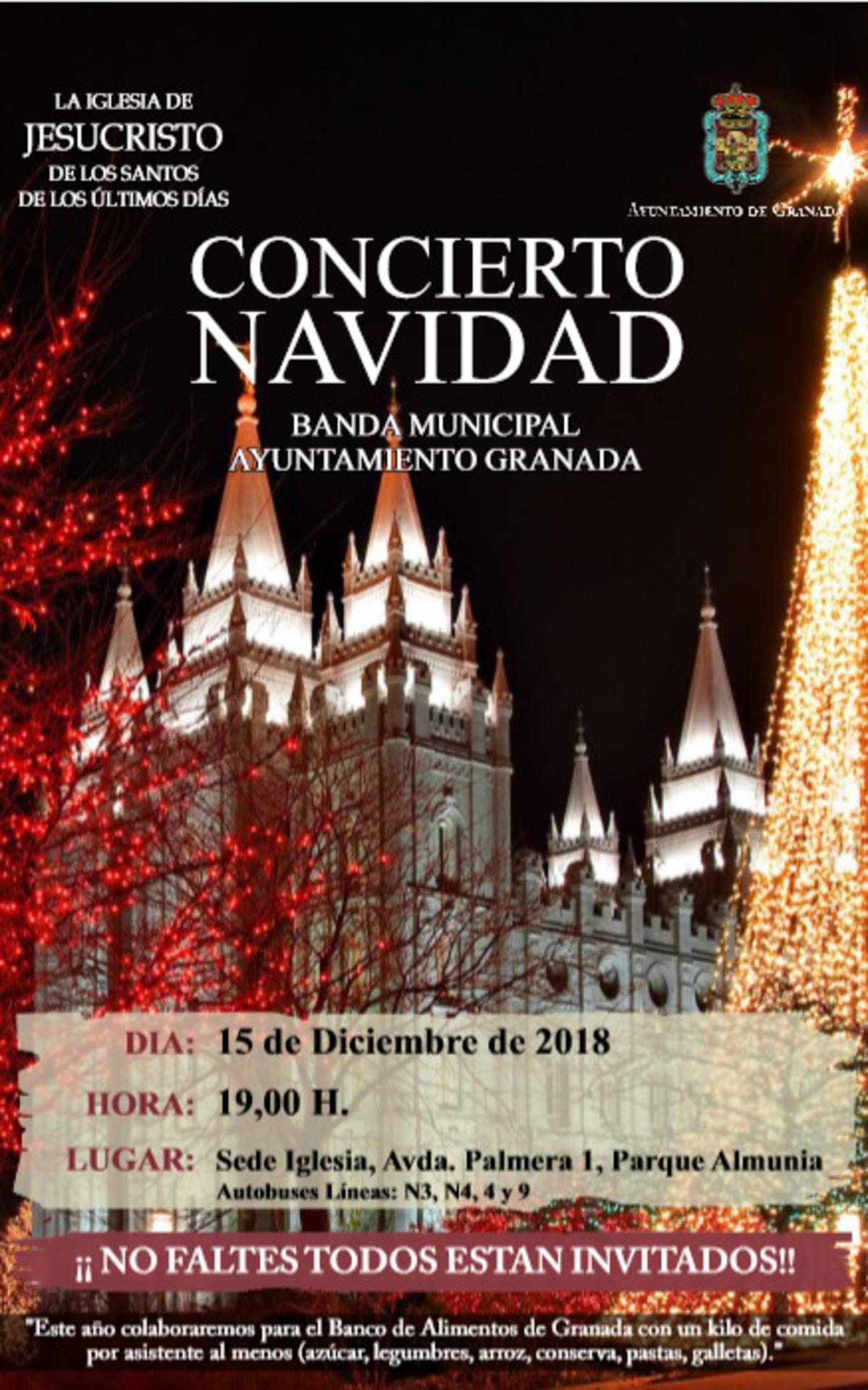 Cartel Concierto de Navidad Granada 2018