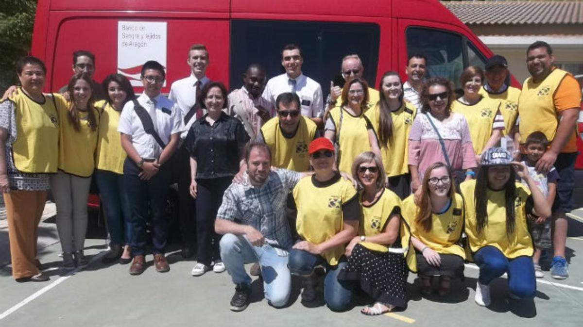Miembros de la Iglesia SUD donaron sangre en Logroño.