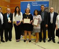 Recogida del Premio Valores Familiares 2017
