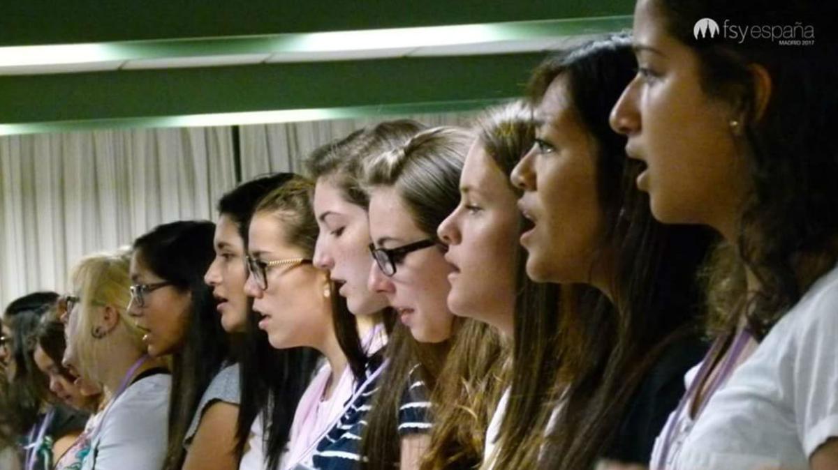 Jóvenes del coro