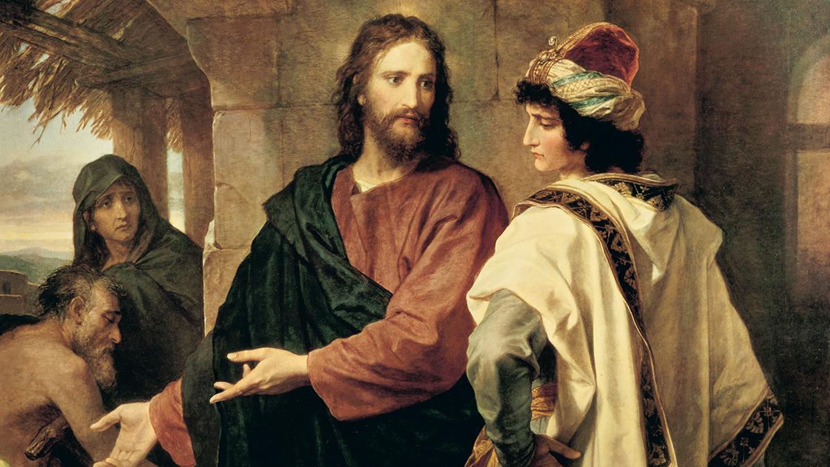Jesús hablando con el joven rico