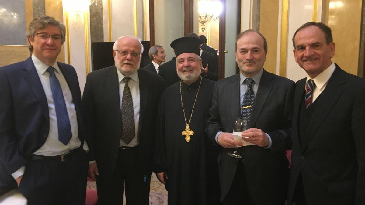 Faustino López, con representantes de otras denominaciones religiosas