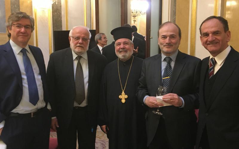 Faustino López con otros representanes religiosos