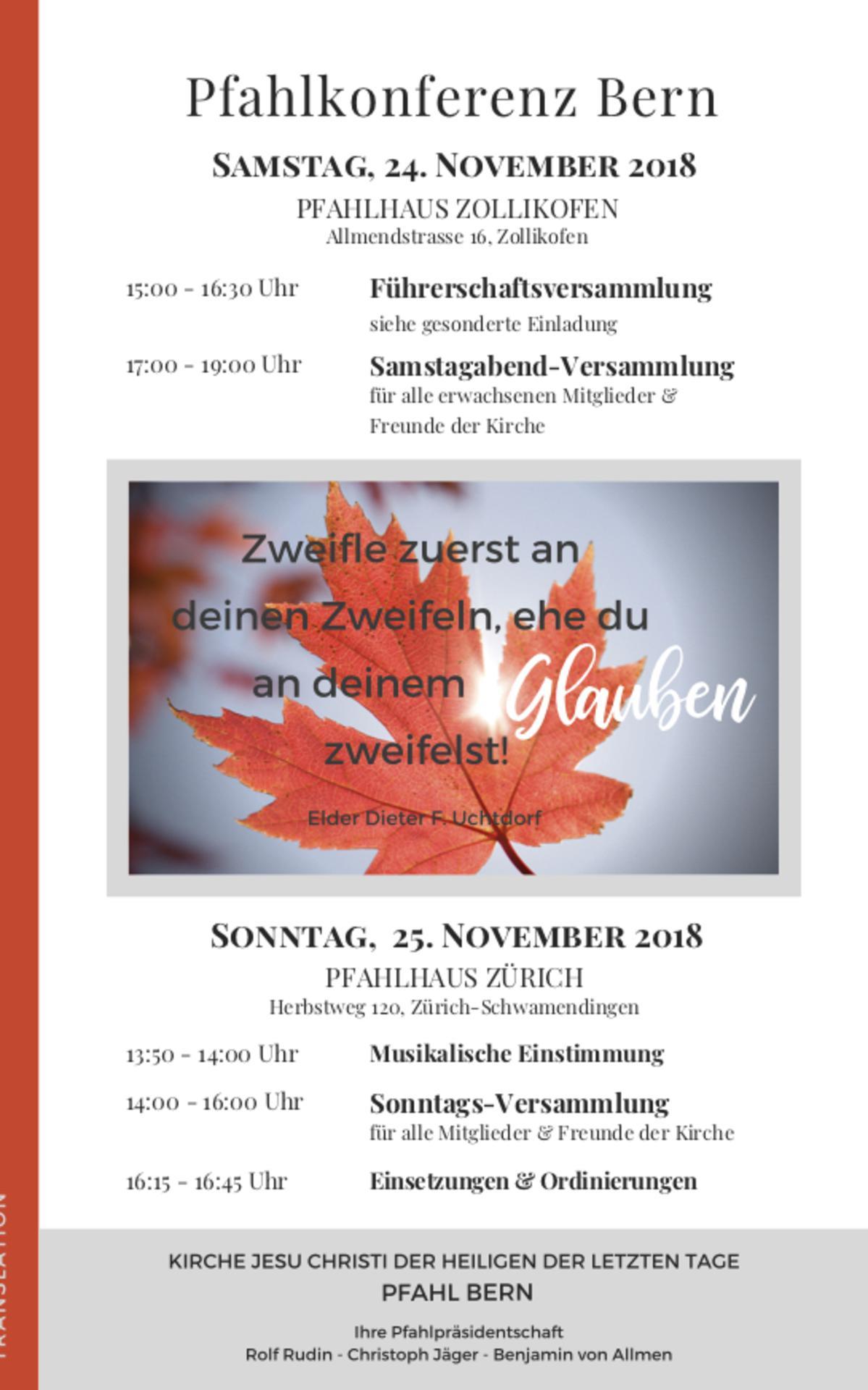 Pfahlkonferenz Bern