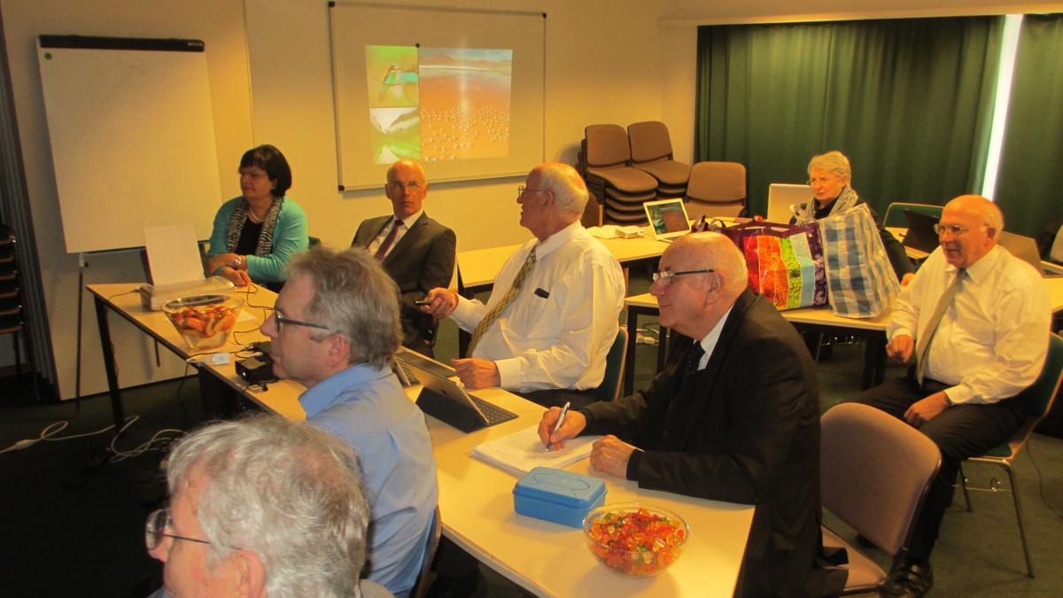 Die Teilnehmer an einem der interessanten Workshops