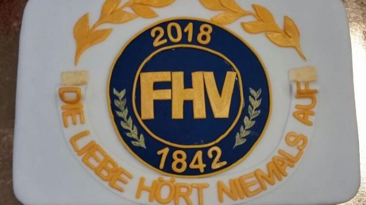 die herrliche Torte mit dem FHV Motto