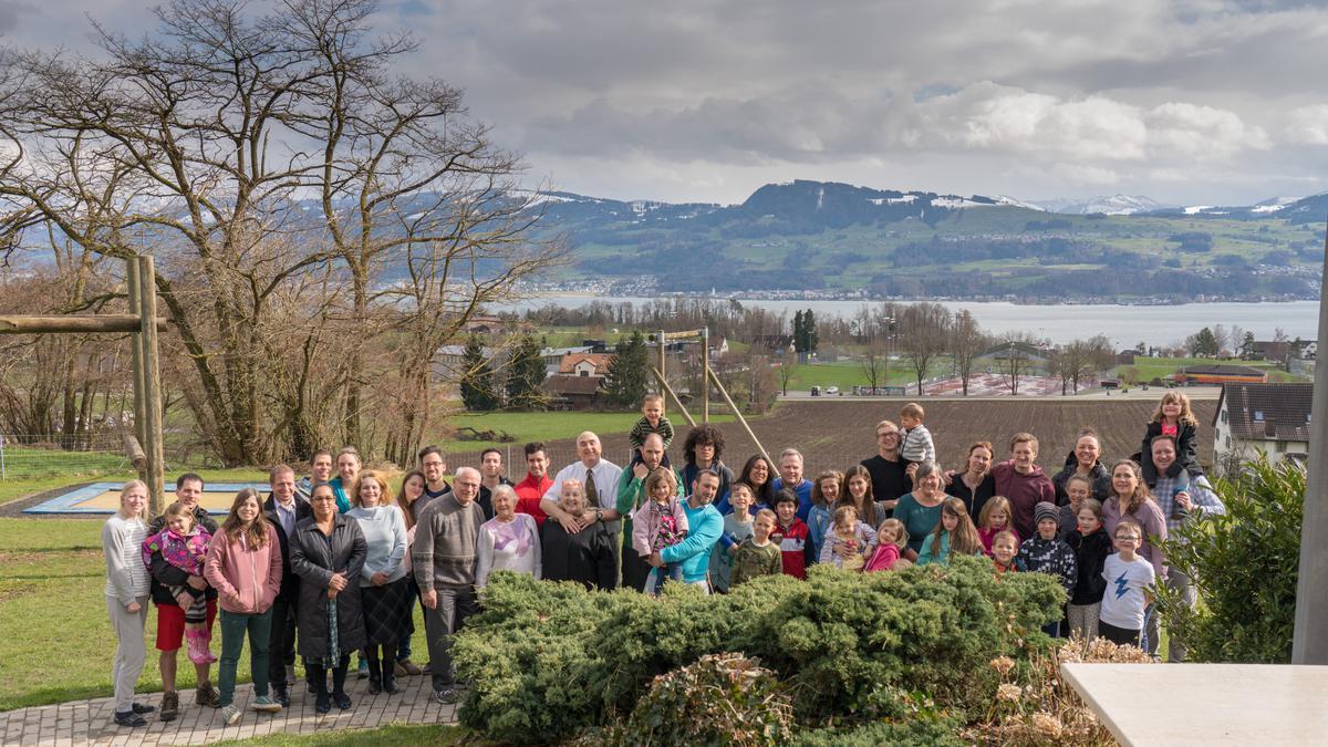 die Teilnehmer des Osterlagers der Gemeinde Schwamendingen