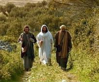Jesus auf dem Weg nach Emmaus