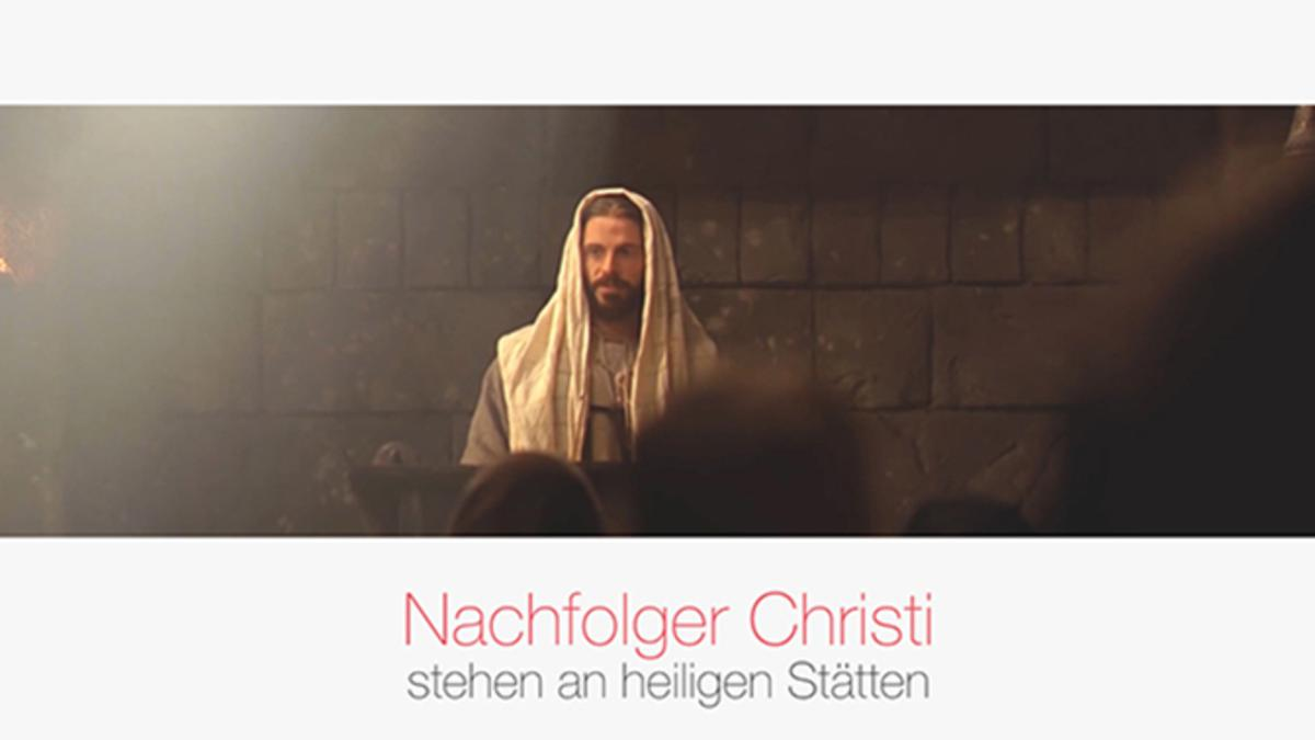 Nachfolger Christi stehen an heiligen Stätten