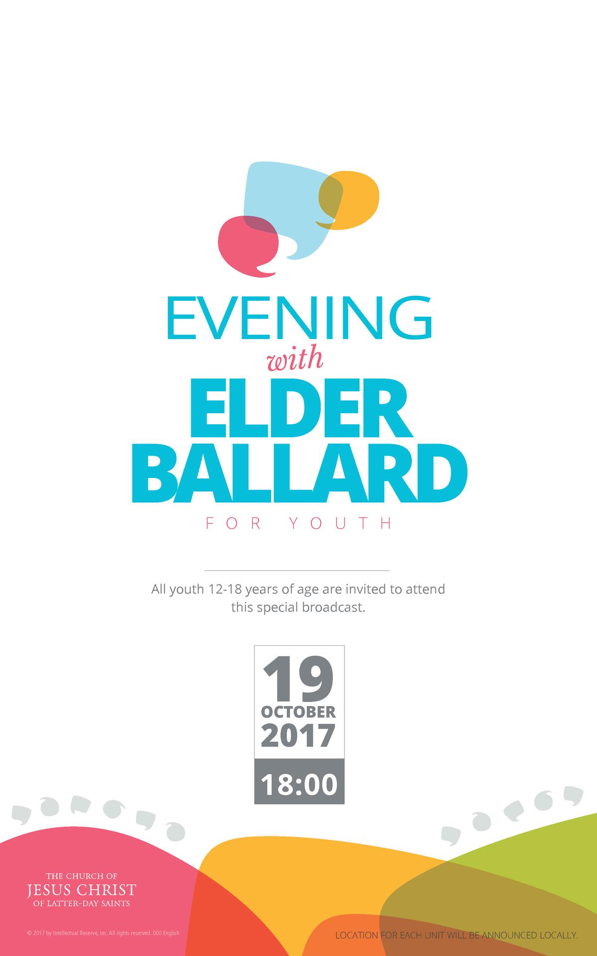 Evening with Elder M. Russell Ballard for Youth