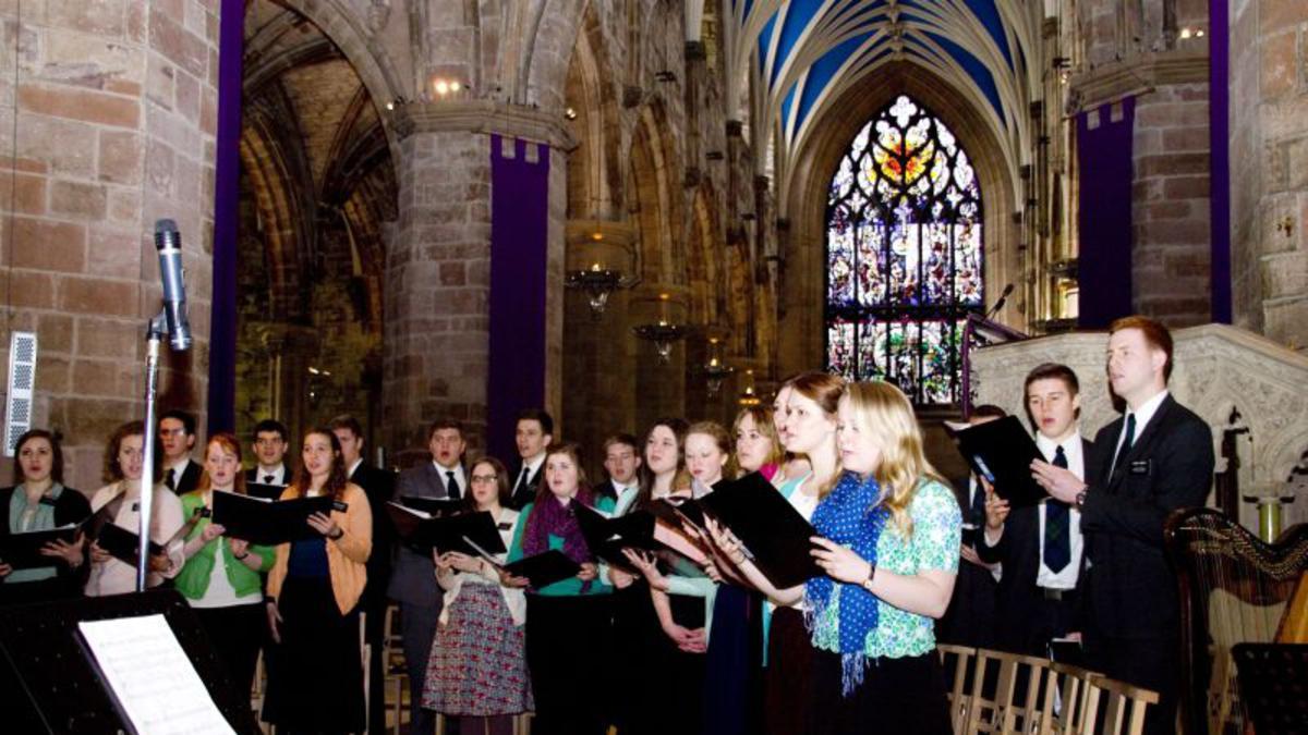 Mormon Missionary Choir