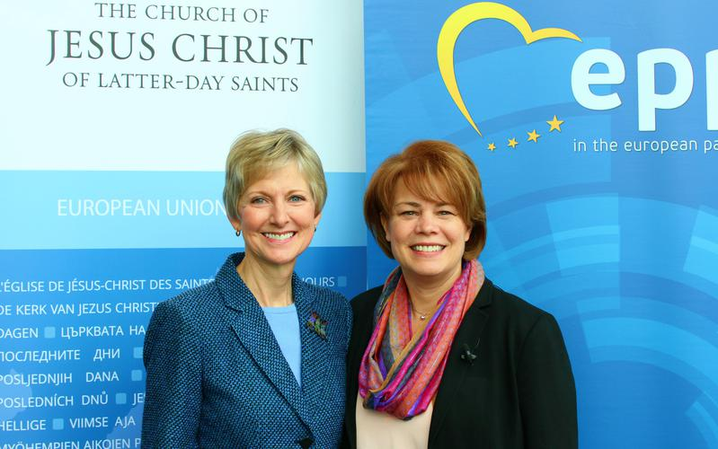 Mormon women's leader speaks at European Parliament conference