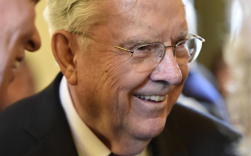 Elder M. Russell Ballard attends British Pageant