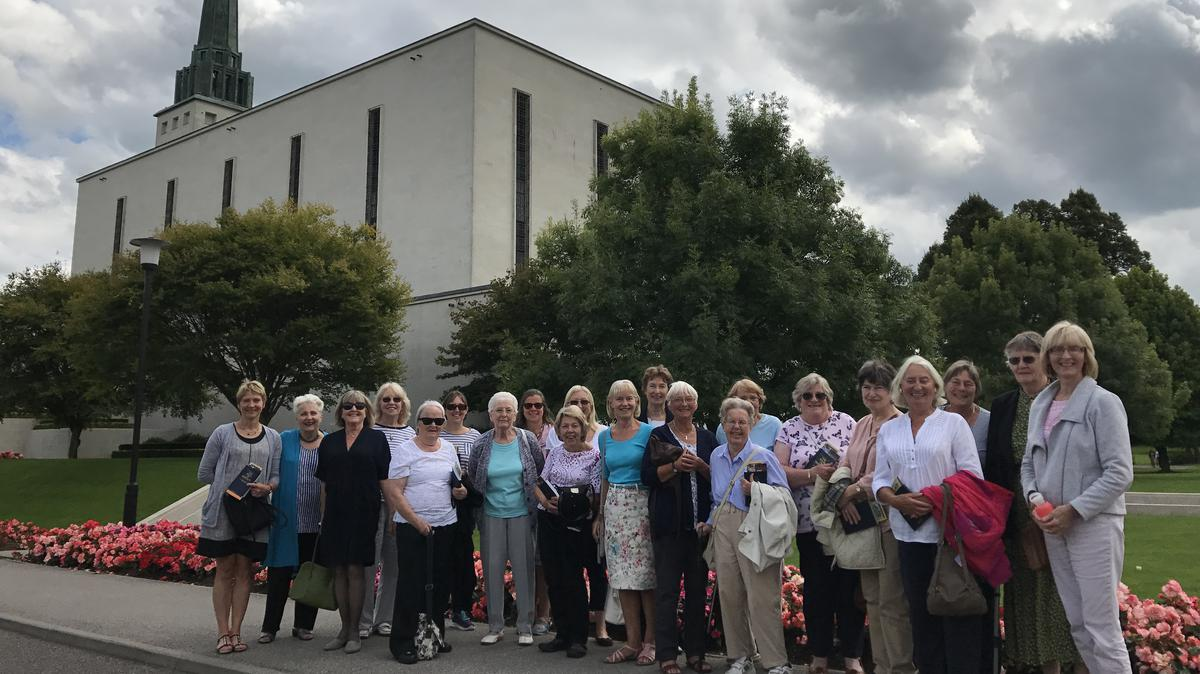 Group visiting the London Temple