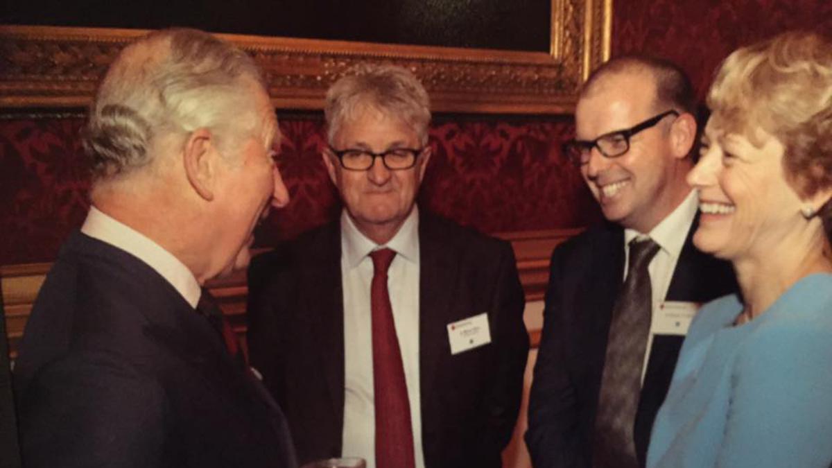 Prince Charles with Simon Cooper