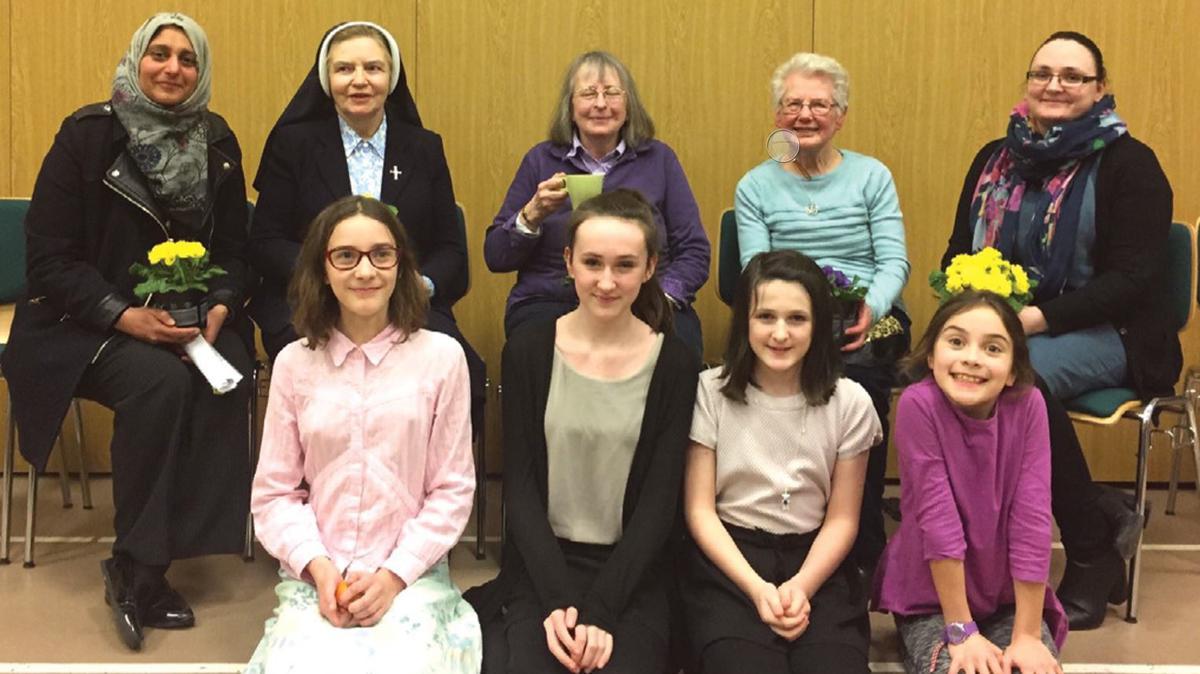 Women at an interfaith evening
