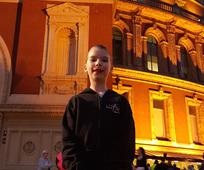 Kerena-Marie outside the Royal Albert Hall