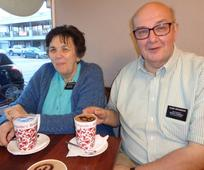 Christine and Keith Withington as they take a short break from their missionary duties in Adelaide.