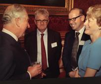 Prince Charles with Simon Cooper