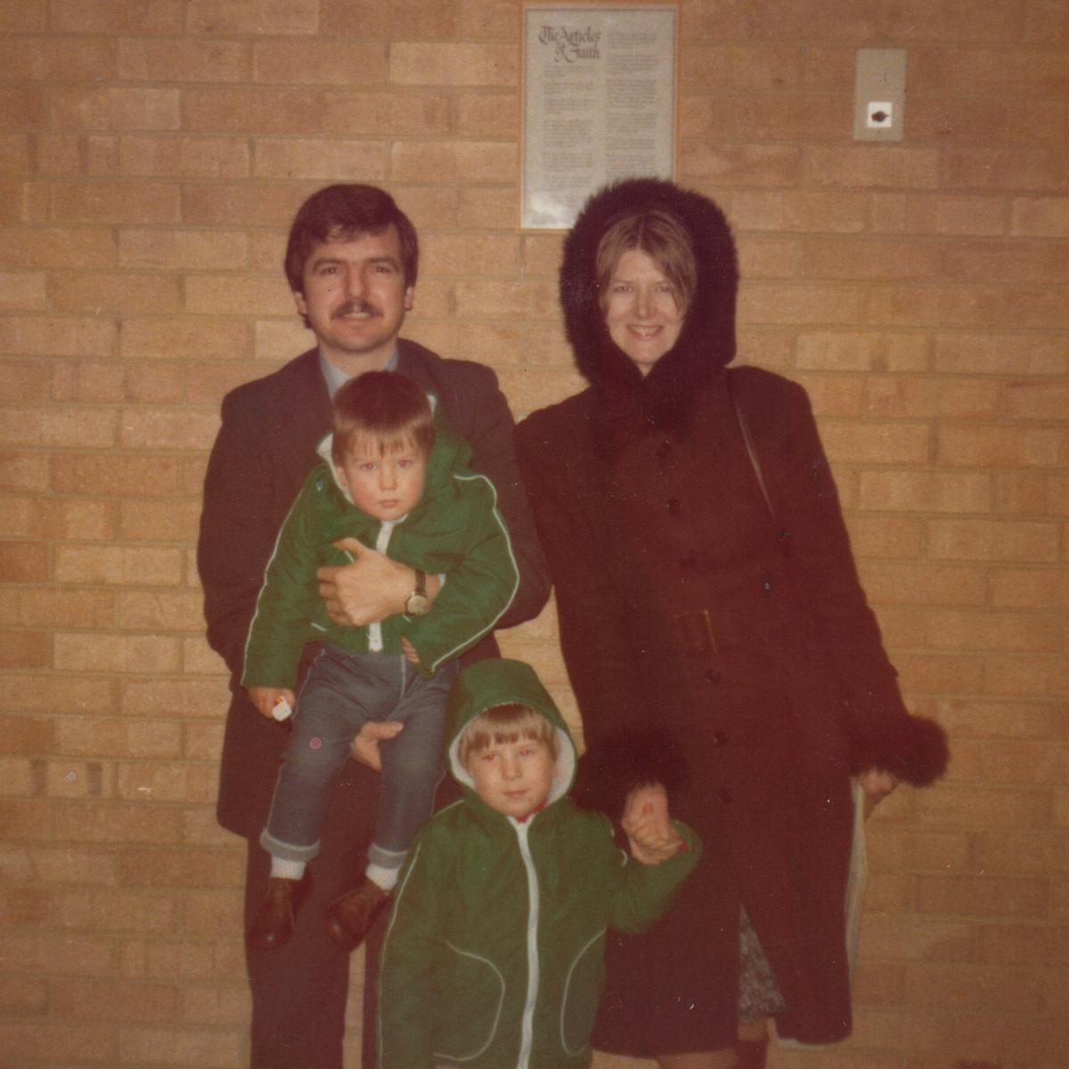 Chris & Jenny Woodward, with sons David and Jason