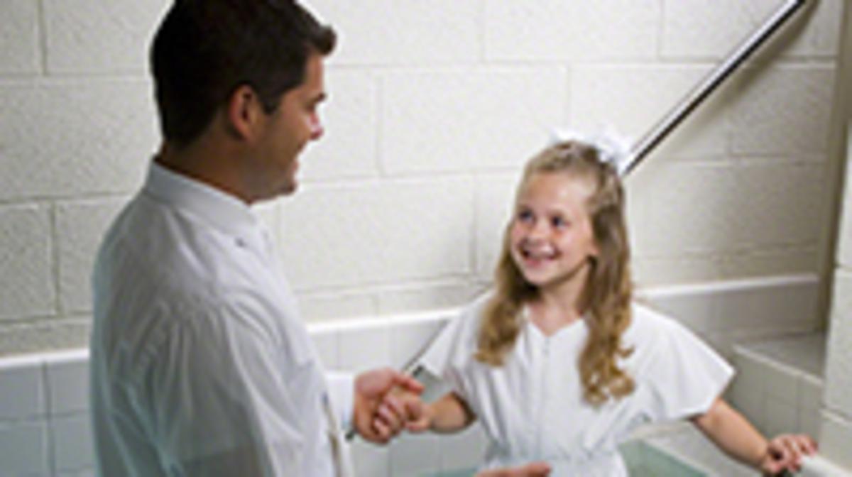 Batismo de um membro da igreja de Jesuscristo dos Santos do Ultimos Dias, tambem conhecidos como Mormons