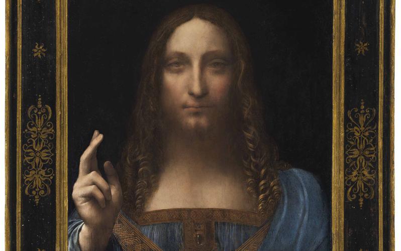 Pintura sobre Jesus Cristo como salvador do mundo se torna a obra de arte mais cara da história