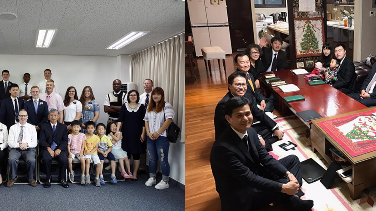 동두천 그룹 회원들(왼쪽)과 철원 지역 회원들