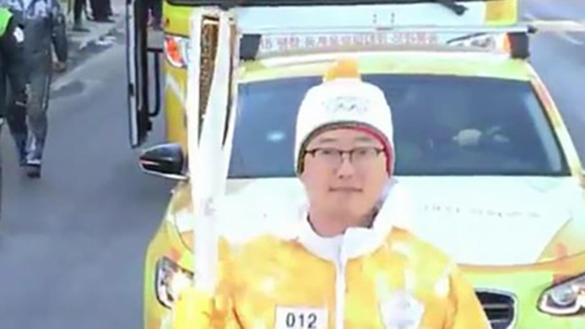 성화 봉송에 참여한 허영준 형제