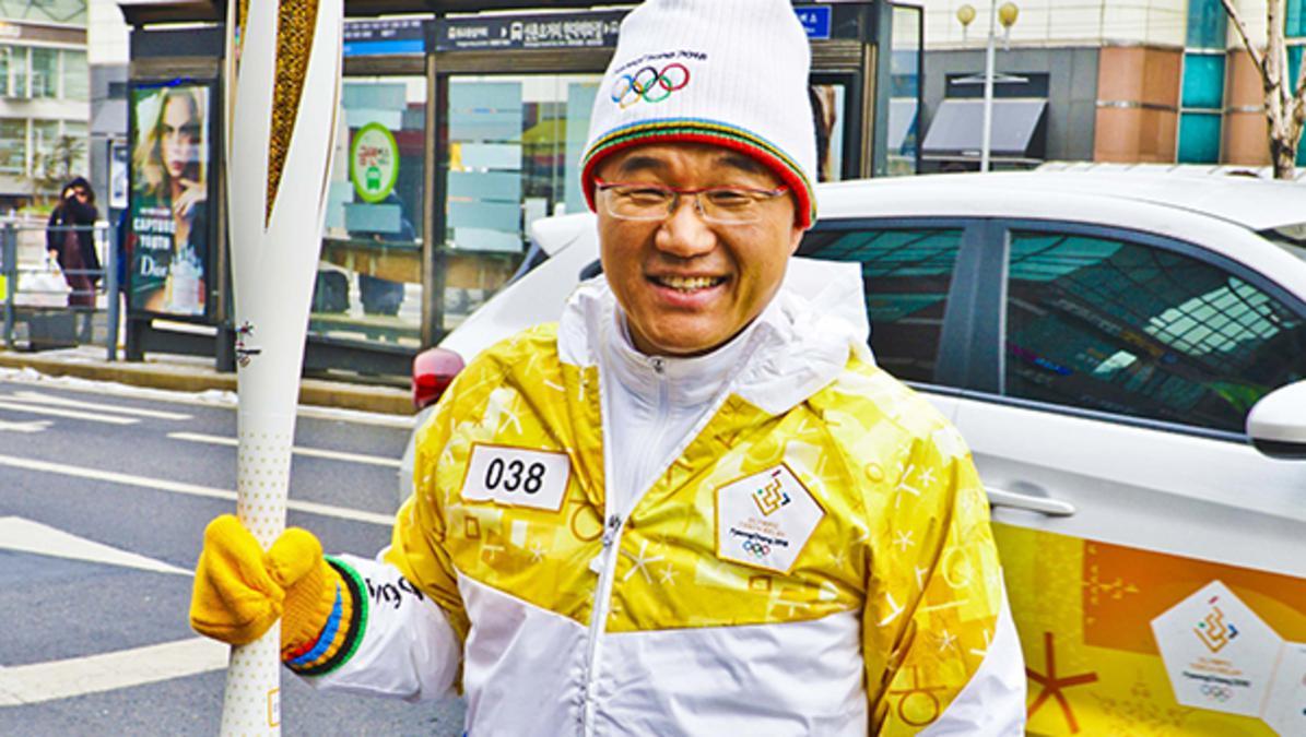 성화 봉송에 참여한 김도균 형제