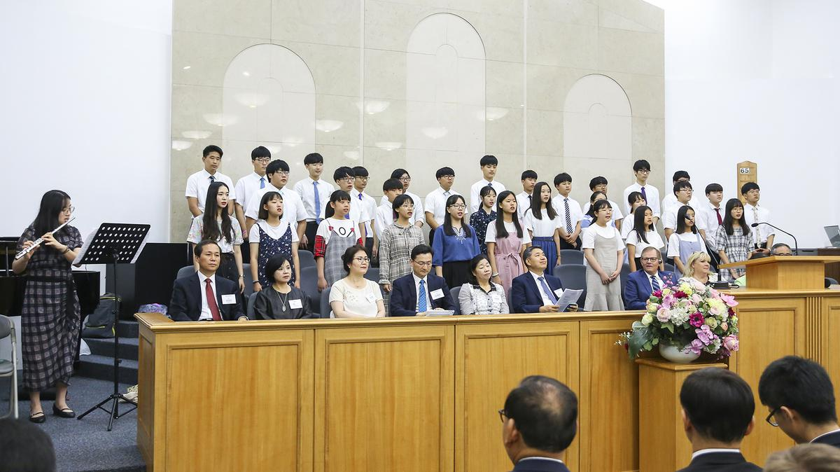 합창하는 서울 서 스테이크 청소년들2