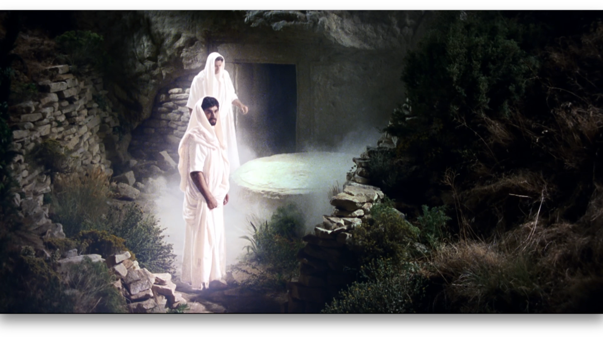 무덤에 누이신 예수님