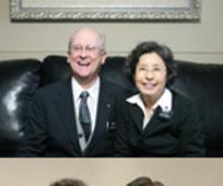귀환한 두 부부 선교사의 모습
